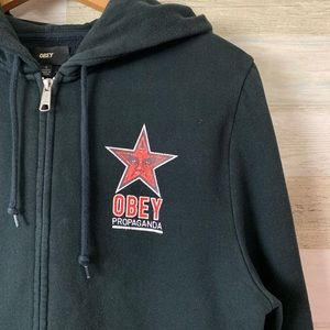 Men's Obey Hoodie Size Small